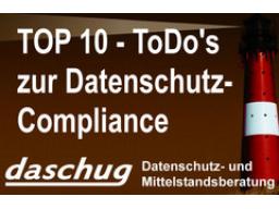 Webinar: Top 10 ToDo's im rechtlich-organisatorischen Datenschutz