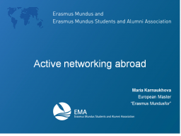 Webinar: Active networking abroad by Maria Karnaukhova