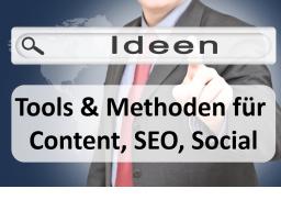 Webinar: Content Marketing: Tools & Methoden der Themenfindung (live vorgeführt)