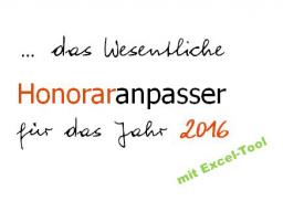 Webinar: Preis- und Honoraranpasser 2016