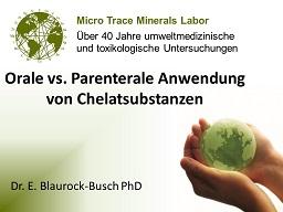 Webinar: Orale vs Parenterale Anwendung von Chelatsubstanzen.