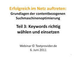 Webinar: Textprovider-Webinar 3