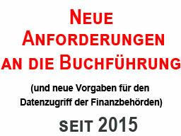 Webinar: Neue Buchführungvorschriften 2015