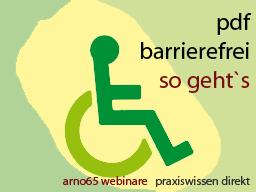 Webinar: Barrierefreie Dokumente