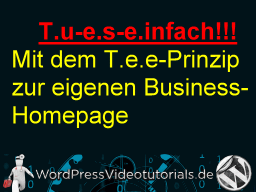 Webinar: Deine erste eigene Homepage mit WordPress - T.u-e.s-e.infach! -