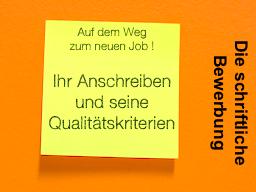 Webinar: Die schriftliche Bewerbung - Auf dem Weg zum neuen Job