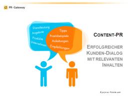 Webinar: Content-PR: Erfolgreicher Kundendialog mit relevanten Inhalten