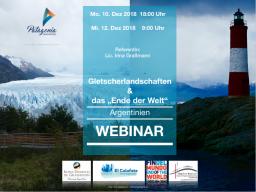 """Webinar: WEBINAR: Gletscherlandschaften und das """"Ende der Welt"""" - Argentinien"""