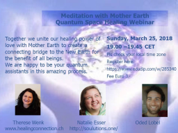 Webinar: Meditation with Mother Earth