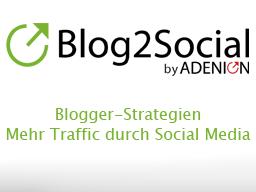 Webinar: Social Media Strategien für Blogger