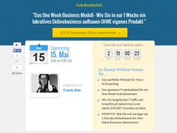 Webinar: Das One Week Business Modell - Wie Sie in nur 1 Woche ein lukratives Onlinebusiness aufbauen OHNE eigenes Produkt