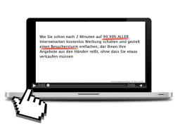 Webinar: Wie Sie auf 99,99% ALLER Internetseiten für 0,- Euro werben
