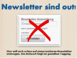 Webinar: Newsletter sind out!