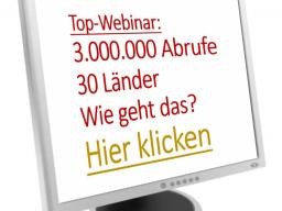Webinar: Internet-Business - über 3.000.000 Nutzer und Fans in 30 Länder, wie geht das?