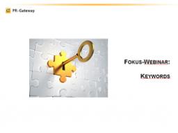 Webinar: Fokus Webinar - Perfekte Online-Mitteilungen im Detail: Keywords