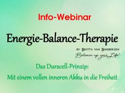 Webinar: Info-Webinar Ausbildung zum Energie-Balance-Therapeuten