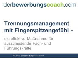 Webinar: Trennungsmanagement mit Fingerspitzengefühl  die effektive Maßnahme für ausscheidende Fach- und Führungskräfte