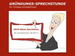 Webinar: GRÜNDUNGS-SPRECHSTUNDE Neue Zuschüsse für GründerInnen 50-80 %
