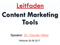 Webinar: Webinar: Content Marketing Tools
