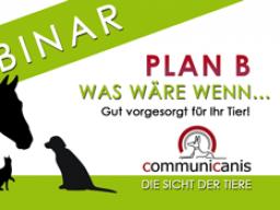 Webinar: Wenn plötzlich alles anders ist. Plan B für Ihr Tier.