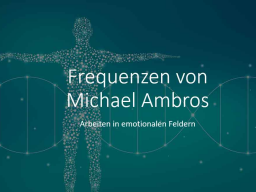 Webinar: Frequenztherapie - Arbeiten in emotionalen Feldern
