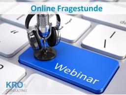 Webinar: Die Online Fragestunde