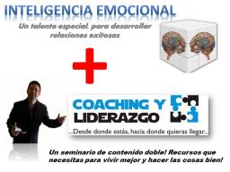 Webinar: COACHING + INTELIGENCIA EMOCIONAL