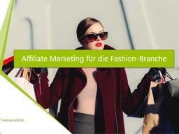 Webinar: Affiliate-Marketing für die Fashion-Branche