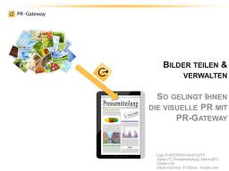 Webinar: Bilder teilen und verwalten: So gelingt Ihnen die visuelle PR mit PR-Gateway