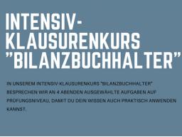 Webinar: Intensivklausurenkurs Bilanzbuchhalter