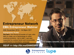 Webinar: Entrepreneur Webinar with Raj, founder of Lupo