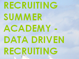 Webinar: RSA Data Driven Recruiting - Stellenanzeigen/Jobbörsen