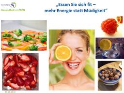 Webinar: Essen Sie sich fit - mehr Energie statt Müdigkeit