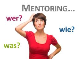 Webinar: Mentoring - wer, wie, was?
