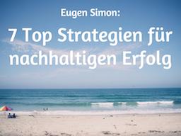 Webinar: 7 Top Strategien für nachhaltigen Erfolg