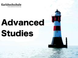 Webinar: AdvancedStudies@Karlshochschule