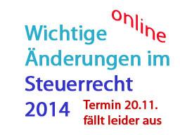 Webinar: Wichtige Steueränderungen 2014