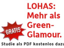 Webinar: Nachhaltige und gesunde Lebensstile (LOHAS) - Mehr als Green Glamour