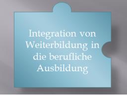 Webinar: Integration von Weiterbildung in die Berufsbildung