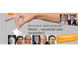 """Webinar: Benefiz Live Online Kongress """"Werte - verwertet oder verworfen?"""""""