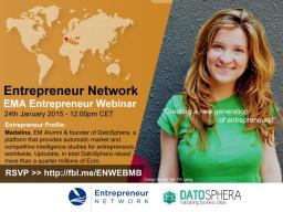 Webinar: Entrepreneur Webinar with Madalina, founder of Datosphera