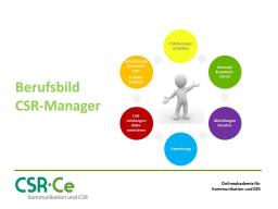 Webinar: CSR-Manager  Berufsbild und Zukunftsperspektive