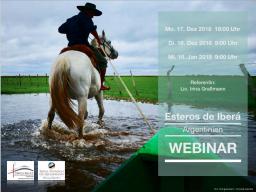 """Webinar: Webinar:  """"Esteros del Iberá - Argentinien - 1a"""