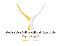 Webinar: Psychologie I
