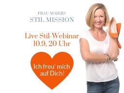 Webinar: Stil Mission DEIN LEBEN DEIN STIL 8 Schritte zu Deinem persönlichen Stil