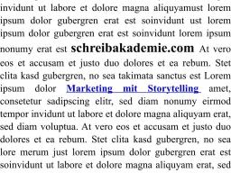 Webinar: Marketing mit Storytelling Teil 2