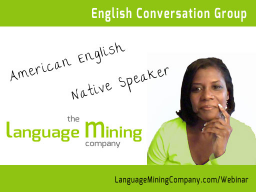 Webinar: English Conversation Group