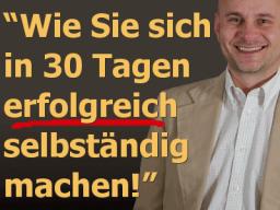 Webinar: Selbständig in 30 Tagen