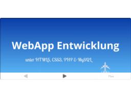 Webinar: Dynamische WebApp in 30 min