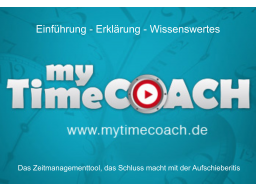 Webinar: -=  My Time Coach  =-